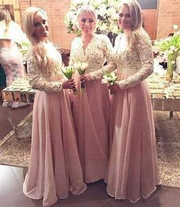 Popular long sleeve bridesmaid dresses buy cheap long for Muslim wedding bridesmaid dresses