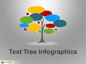 Text Tree Infographics Powerpoint