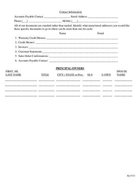 Dealer Application Template by Non Dealer Credit Application Template