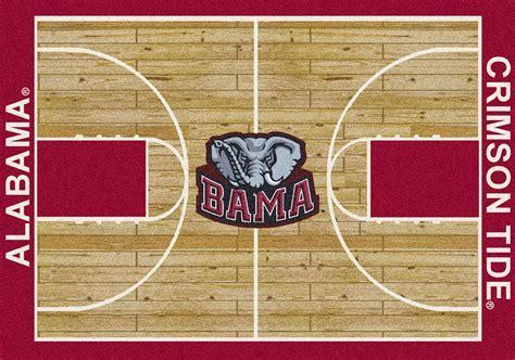 Alabama Crimson Tide Basketball Home Court Nylon Area Rug