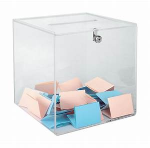 Urne transparente standard avec serrure 300 bulletins Maxiburo