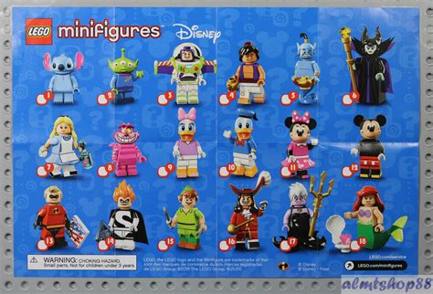lego disney minifigures series poster collectible leaflet phlet flyer ebay