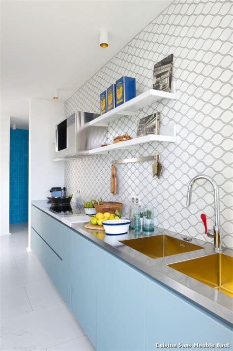 cuisine sans meuble haut with industriel cuisine