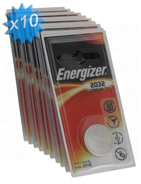 pile cr2032 3v energizer au lithium en boite de 10 15 90