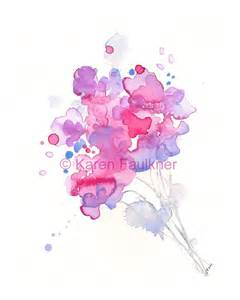 Watercolor Flower Bouquet Print