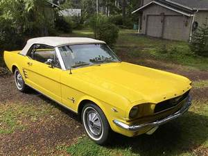 1966 Ford Mustang Convertible Yellow RWD Automatic - Classic Ford Mustang 1966 for sale