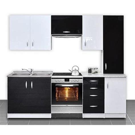 cuisine équipée de 2m20 oxane noir et blanc achat