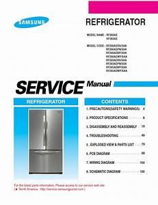 Samsung Rf266aepn Refrigerator Original Service Manual