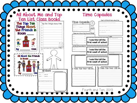 back to school activities for fifth grade students