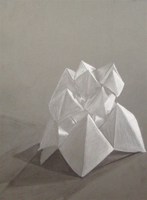 smartteacher resource charcoal origami drawing
