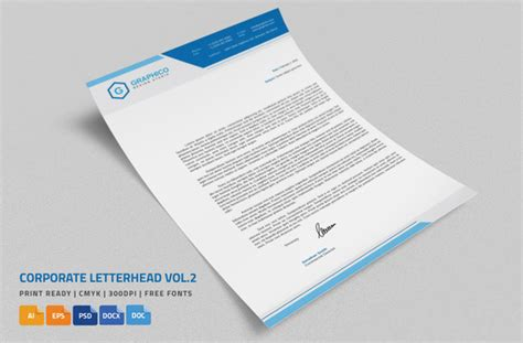 corporate letterhead   ms word stationery templates