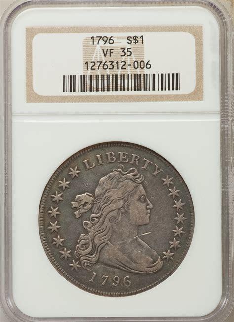 1796 Draped Bust Dollar - 1796 us silver 1 draped bust dollar ngc vf35 ebay