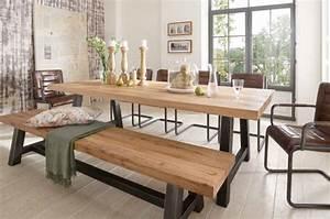 table salle a manger bois brut table haute salle a manger With meuble de salle a manger avec tres grande table salle a manger
