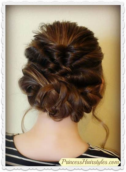Updo Prom Hairstyle Braids Romantic Hair Hairstyles