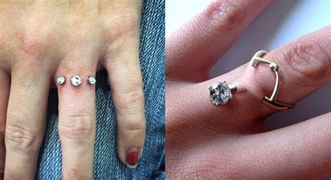 piercing engagement ring naked photo