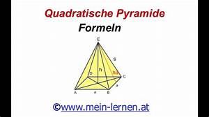 Quadratische Pyramide A Berechnen : quadratische pyramide formeln youtube ~ Themetempest.com Abrechnung