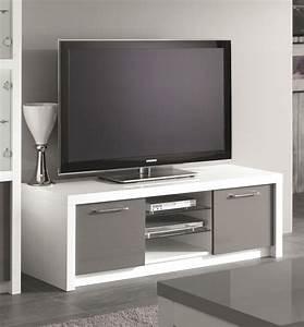 Meuble Tv 1m : meuble tv pas cher gris choix d 39 lectrom nager ~ Teatrodelosmanantiales.com Idées de Décoration