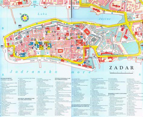 croatia map zadar