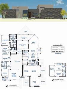 Courtyard, House, Plans