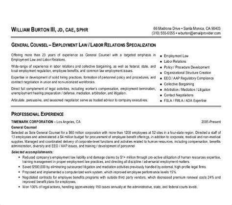 attorney resume templates    premium