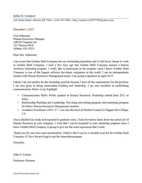 internship cover letters sle cover letter for mba internship in finance