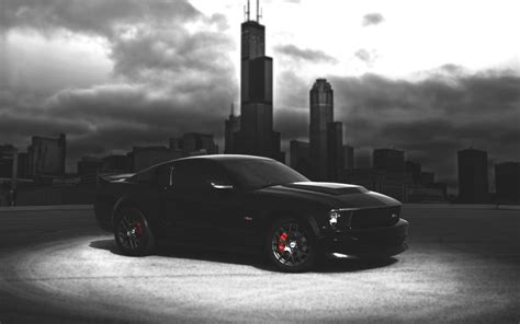 Black Mustang Wallpaper