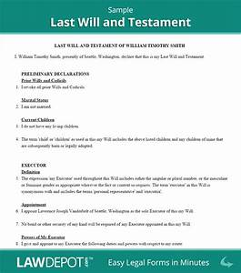 last will and testament sample With ontario will template