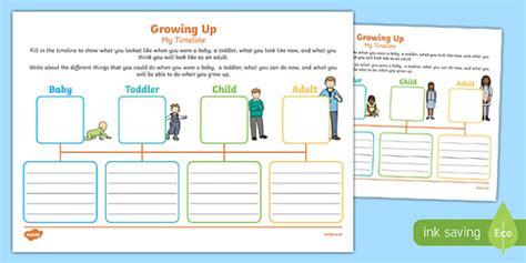 growing   timeline worksheet pack teacher