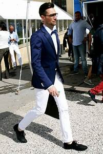 The blue blazer and white trousers are a great idea for coordinating with your bride. | Groom ...