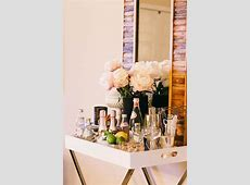 Tray Table Bar Transitional Dining Room