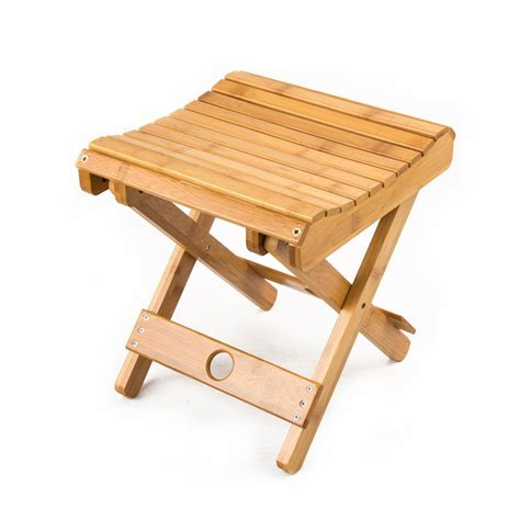Shower Step Stool by Bamboo Shower Stool Seat Spa Bathroom Home Patio
