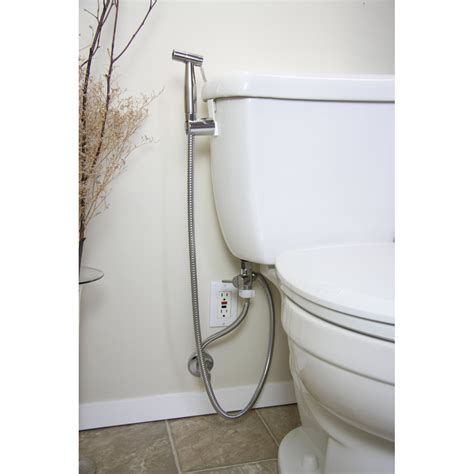 Toilet With Bidet Feature by Brondell Cleanspa Luxury Held Bidet Sprayer Clear