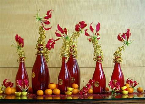 chinese  year decorations flower arrangements