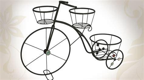 support pot de fleurs grand tricycle en m 233 tal support pot de fleurs