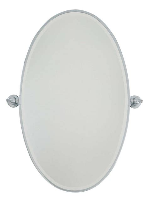 oval pivoting bathroom mirror minka lavery chrome large oval pivoting bathroom