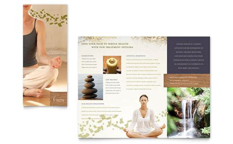 naturopathic medicine brochure template word publisher