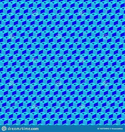 Cube Symmetric Repeating Ornament Pattern Geometric Repeatable