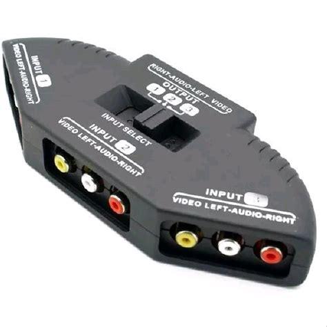 Harga Input Rca jual tv switch box rca 3 input 1 output with composite av