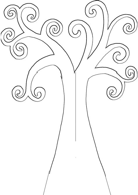 Tree Template Leafless Tree Outline Printable Cliparts Co