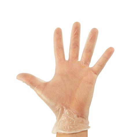vinyl disposable gloves clear powder  ultraglove   powdered clear  blue