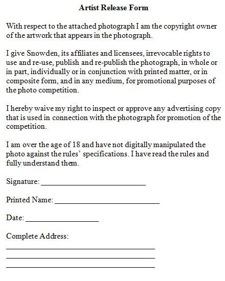 Music Copyright Release Form Template by Photo Copyright Release Form Driverlayer Search Engine