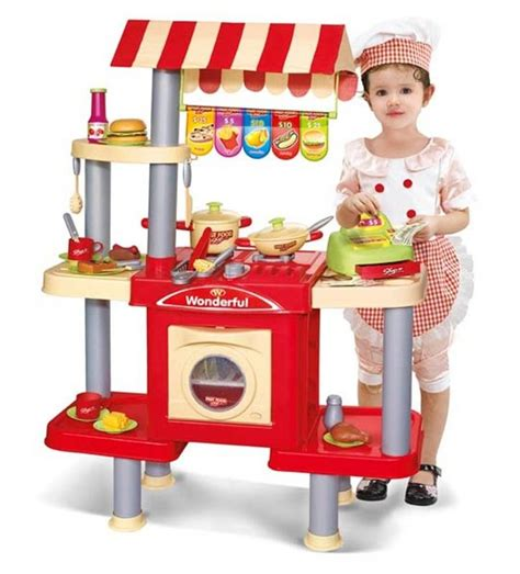 childrens play kitchen accessories fast food shop and kitchen with accessories pretend 5390