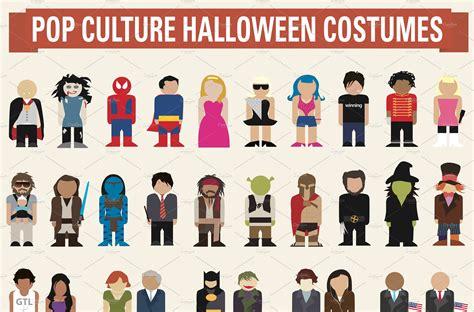 Halloween Pop Culture Costume Ideas Illustrations