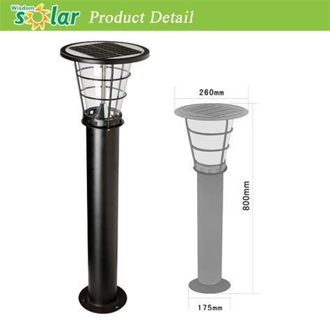 top quality stainless steel bollard solar led garden light