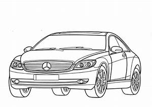 mercedes benz cl class w216 coloring page free printable With mercedes benz s cl