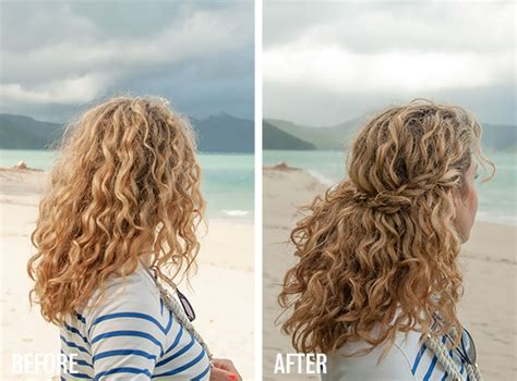 Braided And Curled Hairstyles by 2 Min Hairstyle Half Crown Braid In Curly Hair