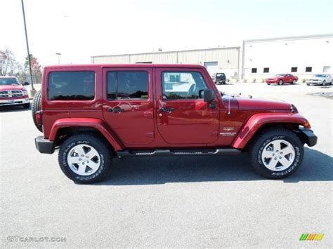 jeep sahara red deep cherry red crystal pearl 2012 jeep wrangler unlimited