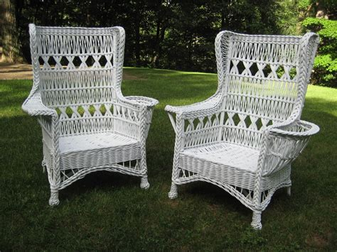 vintage wicker furniture popular for interior and