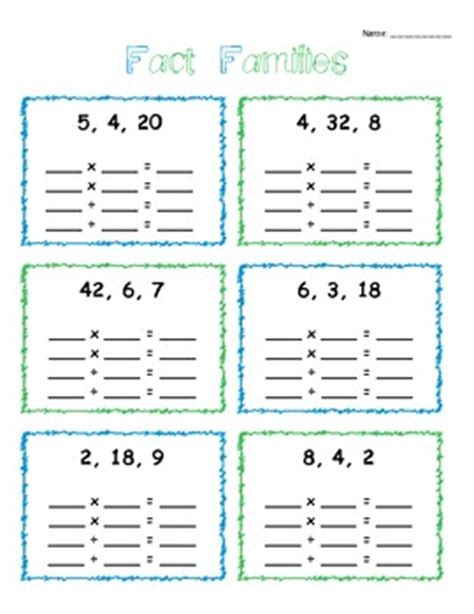 multiplication and division fact family fun by danielle