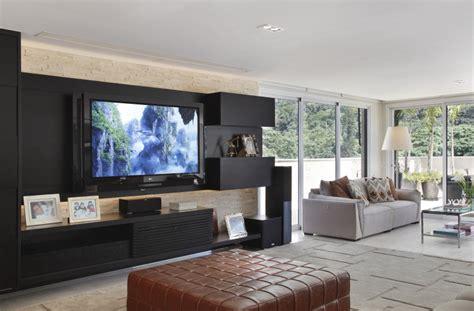 decoração de sala pequena sofá marrom escuro im 225 genes salas de tv im 225 genes